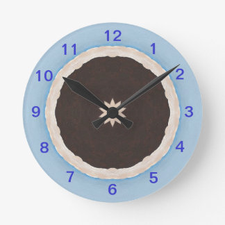 Time for Chocolate Pie Wall Clock