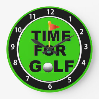 Time for Golf Large Clock