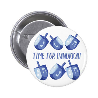 Time For Hanukkah 2 Inch Round Button