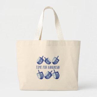 Time For Hanukkah Large Tote Bag