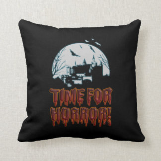 Time for Horror! Throw Pillow