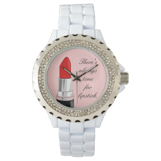 Time for Lipstick Wrist Watches