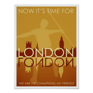 Time for London poster art/print