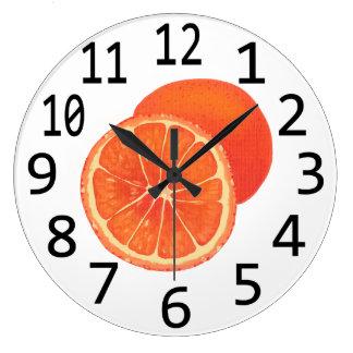 Time for Oranges Orange Fruit Wall Clocks