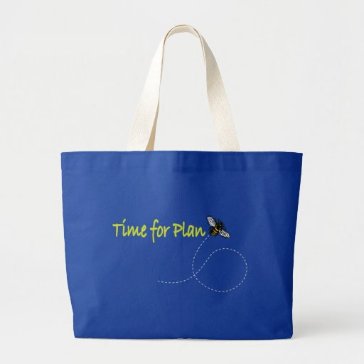 Time for Plan Bee Canvas Bag