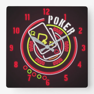 Time For Poker Wall Clock