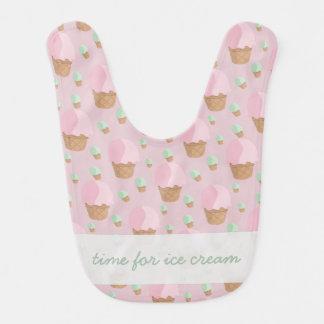 Time for Strawberry Ice Cream Baby Bib