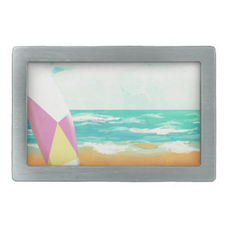 Time for surfing! belt buckles