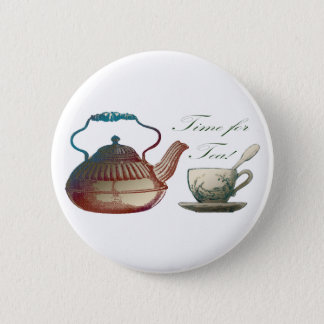 Time for Tea 2 Inch Round Button