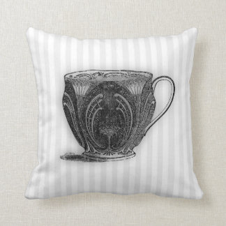 Time for Tea #8 Teacup Throw Pillow