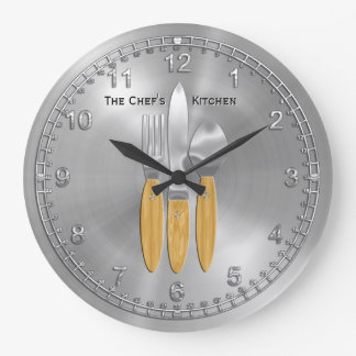Time for the Master Chef in You (Personalized) Large Clock