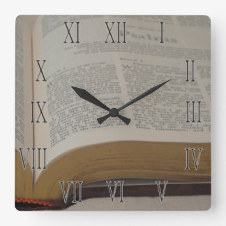 Time for the Psalms Square Wall Clock