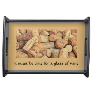 Time for Wine Small Serving Tray