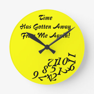 Time Getting Away Clock