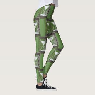 Time Hourglass Green Leggings