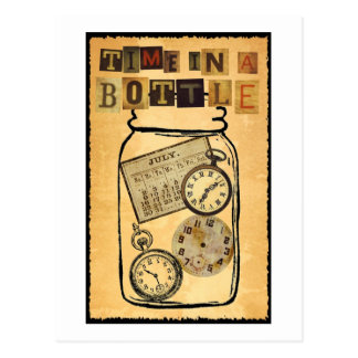 Time in a Bottle Postcard