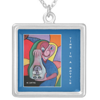 Time In A Bottle Time Pieces Silver Plated Necklace