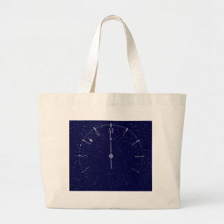 Time Is Almost Midnight Large Tote Bag