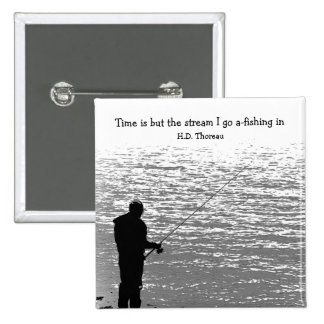 Time is but the Stream 2 Inch Square Button
