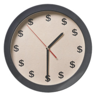 Time is Money Dinner Plate