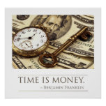 Time is Money - Franklin Quote Poster