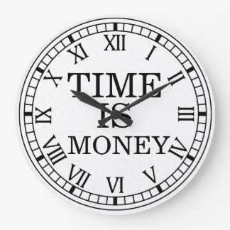 Time Is Money Wall Clock