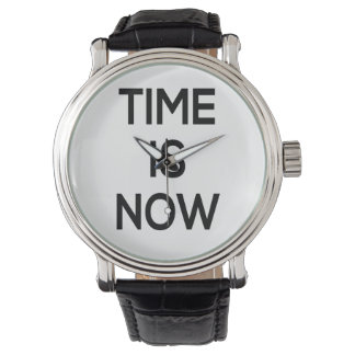 time is now, watch design, word art