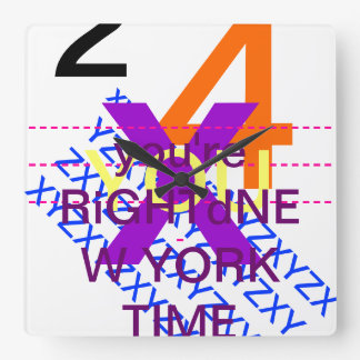 TiME iS PLOMO Square Wall Clock