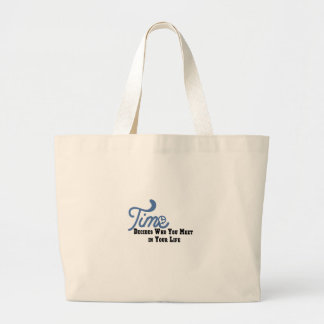 Time Large Tote Bag