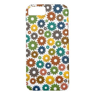 Time Machine Pattern in Colors iPhone 7 Case