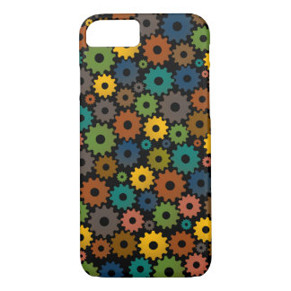 Time Machine Pattern in Colours with backfround iPhone 7 Case