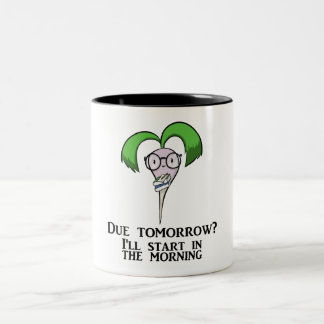 Time Management Turnip (mug) Two-Tone Coffee Mug
