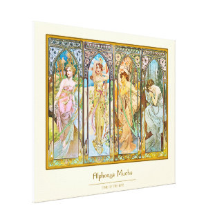 Time of the Day - Alphonse Mucha Canvas Print