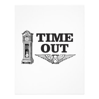 time out clock letterhead