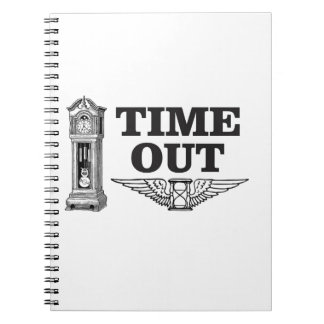 time out clock spiral note books