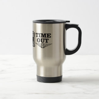 time out clock travel mug