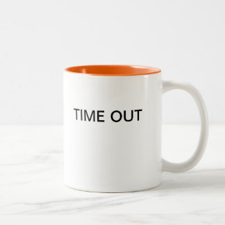 TIME OUT Two-Tone COFFEE MUG