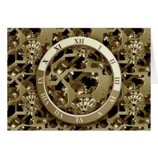 time piece greeting card