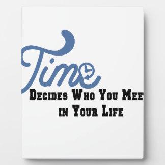 Time Plaque
