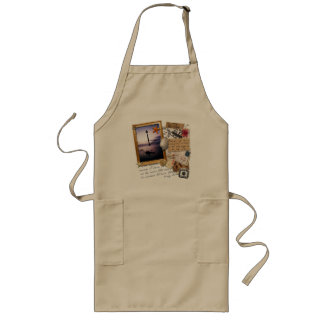 """""""Time"""" Scrapbook/Collage Long Apron"""