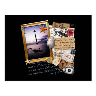"""Time"" Scrapbook/Collage Postcard"