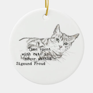 Time Spent with Cats . . . Ceramic Ornament
