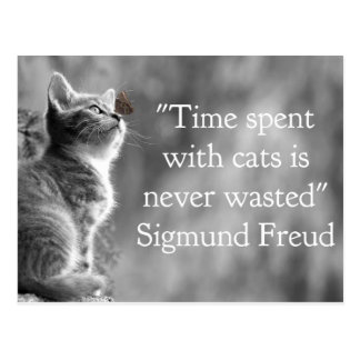 Time Spent with Cats . . . Postcard