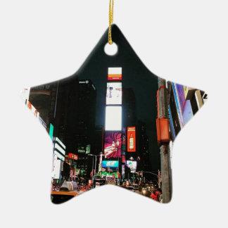Time Square, NYC Ceramic Star Ornament