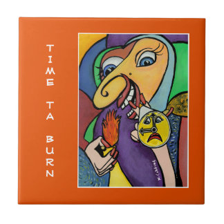 Time Ta Burn - Orange - Time Pieces Tile