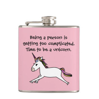 Time to be a unicorn (flask) hip flask