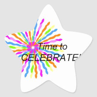 Time to Celebrate Star Sticker