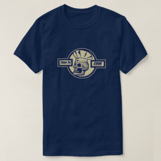 Time to Cook -Butter Yellow/Dark Blue Graphic Logo T-Shirt