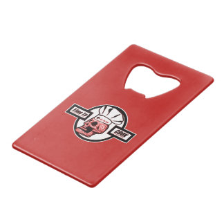Time to Cook - Red/black/White Logo Wallet Bottle Opener