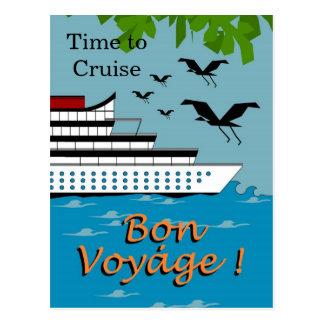 TIME TO CRUISE_BON VOYAGE post card